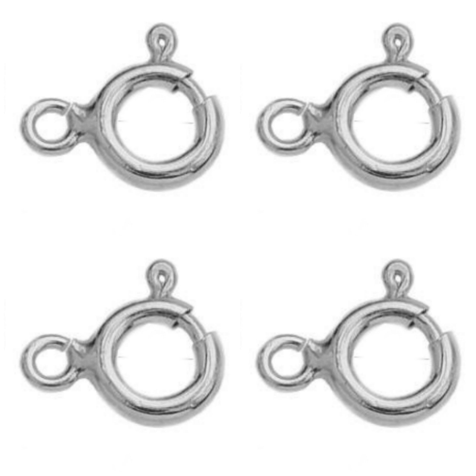 Bolt Spring Ring Clasps Jewellery Findings 925 Sterling Silver