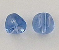 20 CRYSTAL GLASS 10MM HELIX BEADS BLUE